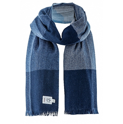 Navy / Gray Scarf from Ireland