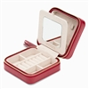 Caroline Zip Travel Jewelry Case In Red