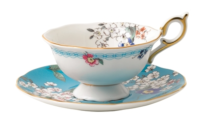 Wonderlust Apple Blossom Tea Cup and Saucer by Wedgwood