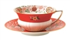 Wedgwood Cup And Saucer - Wonderlust Crimson Orient