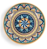 Deruta Geometric Ceramic Serving Platter