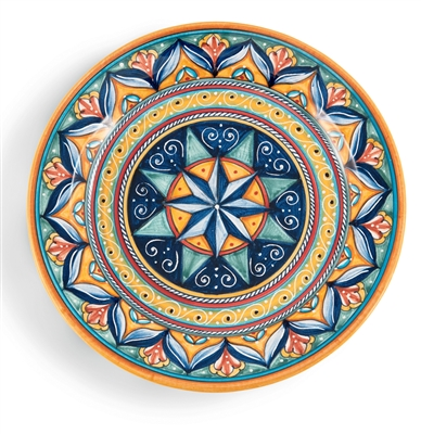 Deruta Geometric Round Serving Platter