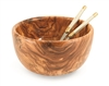 "Olive Wood 9.5"" Salad Bowl"