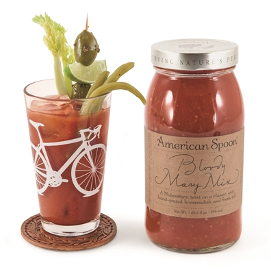 glass jar of bloody mary mix