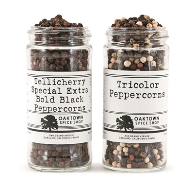Tellicherry and Tri-Color Peppercorns