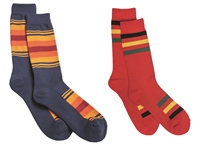 Red and Blue Pendleton National Parks Socks