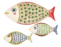 Set of Three Fish Platters