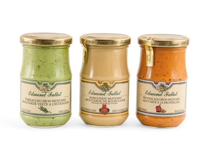 Three French Mustards by Fallot