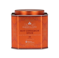 Red tin of Harney & Sons Tea - Hot Cinnamon Spice