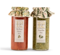 Two Salsas in glass jars by 12 Oaks