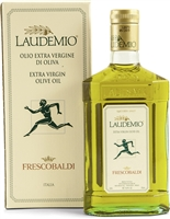 Box and bottle of Frescobaldi Laudemio Olive Oil