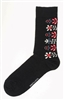 Swedish Socks - Black W/ Flowers