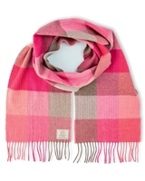 Avoca Merino Wool Pink Scarf from Ireland