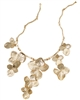 Gold Hydrangea flowers Necklace