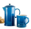 Marseille Blue French Press by Le Creuset with Brunch Box (free gift)