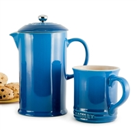 Marseille Blue French Press by Le Creuset