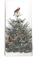 Cardinals in Fir Tree Kitchen Towel