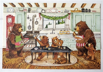 Gingerbread Bears Paper Placemats