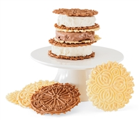 Set of Two Fogliani Pizzelle Chocolate and Vanilla