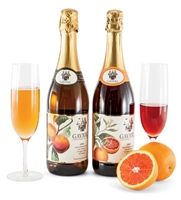 Set of two Sparkling Juices- Blood Orange and Peach