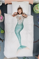 Mermaid Duvet Cover and Pillowcase Set