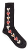 Swedish Socks - Black W/ Hearts