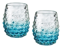 Set of Two Turquoise Glasses