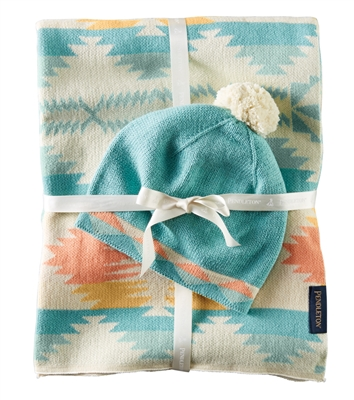 Pendleton Baby Blanket And Hat
