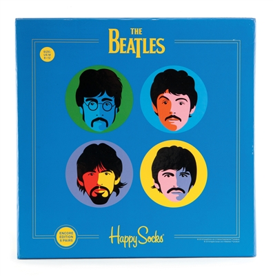 the beatles socks blue box - women