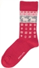 Swedish Socks - Red W/ Reindeer