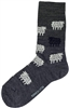 Swedish Socks - Dark Grey W/ Sheep