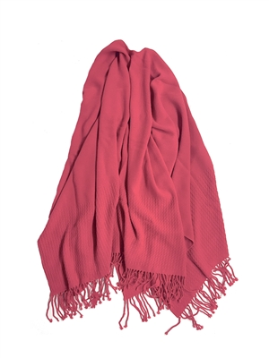 Pink wrap with fringe