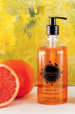 Bottle of Beekman Honeyed Grapefruit Hand And Body Wash