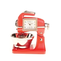 Red Mixer Desk Clock