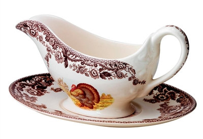 Spode Gravy Boat and Stand