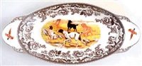 Spode Serving Dish With Dog Scene