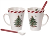 Spode 14oz Mug And Spoon Set - Christmas Tree