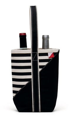 Wine Carrier - Black Stripe