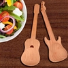 2 Guitar Shaped Wooden Spoons