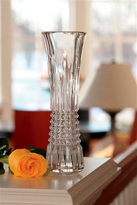 "Waterford Diamond 9"" Bud Vase - Lismore"