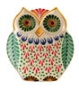 Ceramic Owl Plate by Gorky Pottery