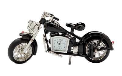 Motorcycle Clock - Black
