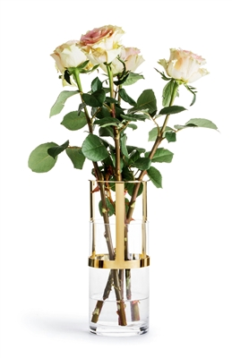 Adjustable Glass And Gold Vase