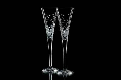 Waterford Champagne Flutes - Happy Wishes