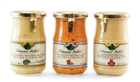 Set of 3 French Mustards: Burgundy, Provencal and Green Peppercorn
