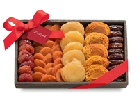 Dried fruit assortment in a gift box