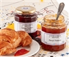 2 glass jars of French jam