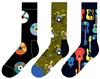 3 pairs cotton music socks by Happy Socks of Sweden