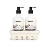 Beekman Goat Milk Hand & Body Wash and Lotion Set with Ceramic Caddy