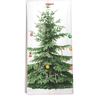 100% Cotton Kitchen Towel with Christmas Tree design